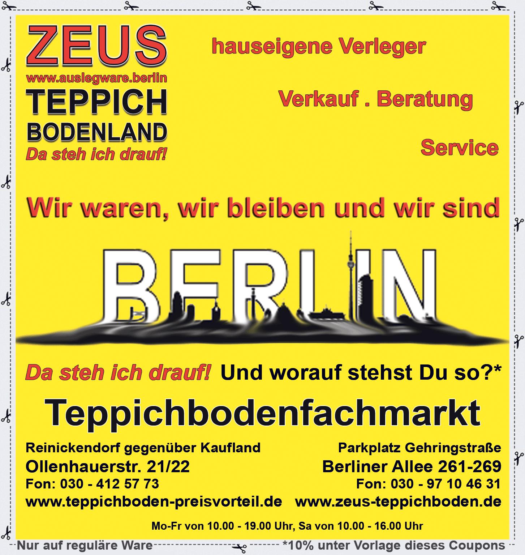 Zeus Teppichbodenland Berlin
